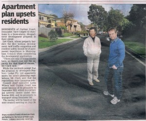 Leader Newspaaper article 2011 July 6th - Curlew court
