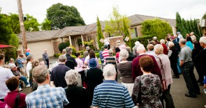 Curlew Court Protest Crowd