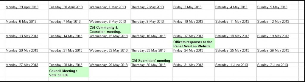 c96 meeting dates
