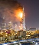 High Rise Fire Dubai Click to enlarge