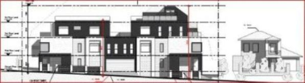 "Three storey proposal ""should"" be two storeys Click to enlarge"