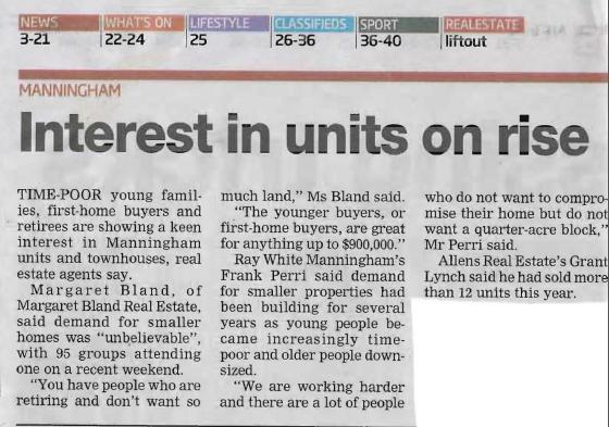 Interest in units on the rise Leader 2013 April