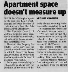 2014-05-01 Apartment sapce doesn't Measure Up - Herald Sun