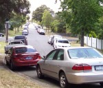 Doncaster Hill Parking overflow in Arthur Street Click to enlarge