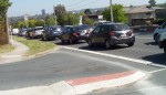 Heavy Traffic Tram Road Near Merlin Street Click to enlarge